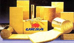 Минеральная вата URSA.URSA – тепло- и звукоизоляционные материалы из штапельного стекловолокна, выпускаемые в виде матов и плит